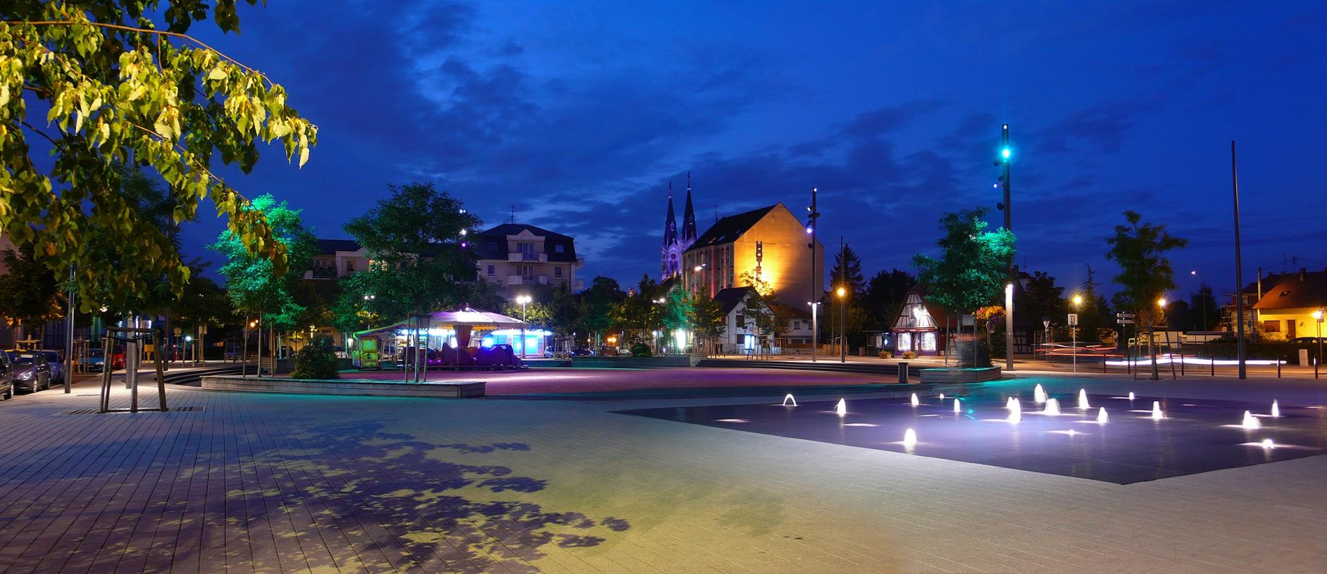 Conception-Lumiere-ActeLumiere-Illkirch-Graffenstaden-Place-Centrale-7