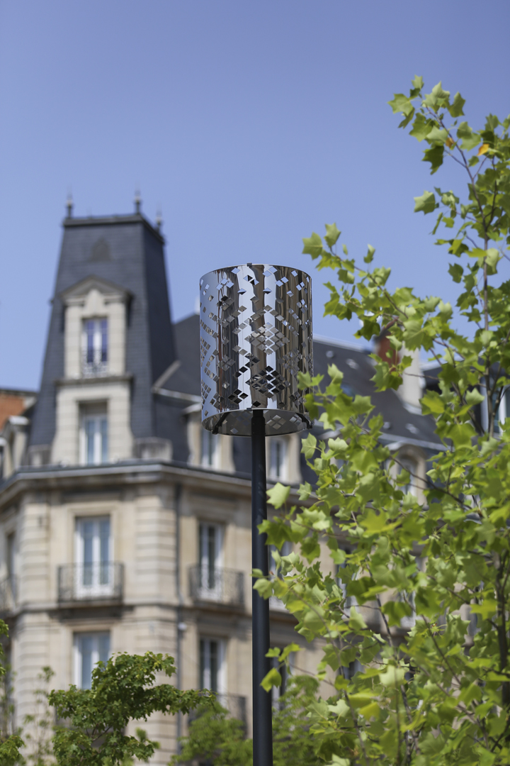 Dijon, Place Darcy, Conception lumière, luminaires abat-jour, Boreal
