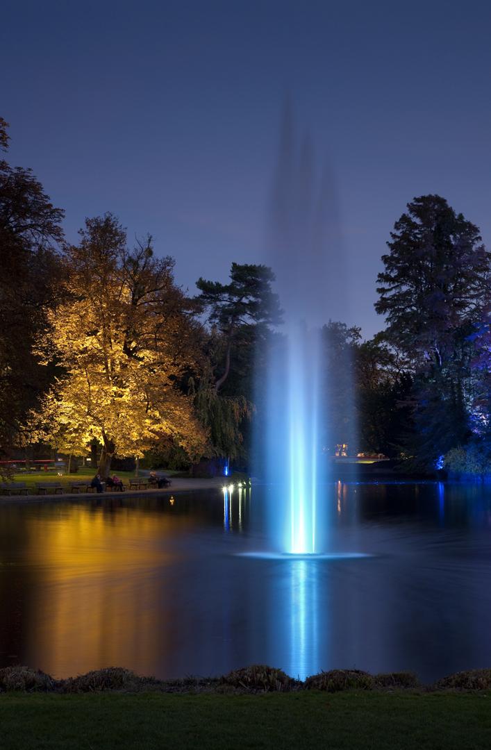 Strabourg, Orangerie, Assises Europennes du paysage, Conception lumière, éclairage coloré, festif, ambiance colorée