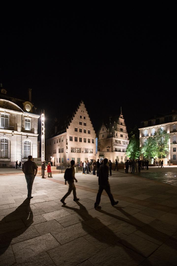 Strasbourg, Chateau, éclairage, pénombre qualitative, élégance